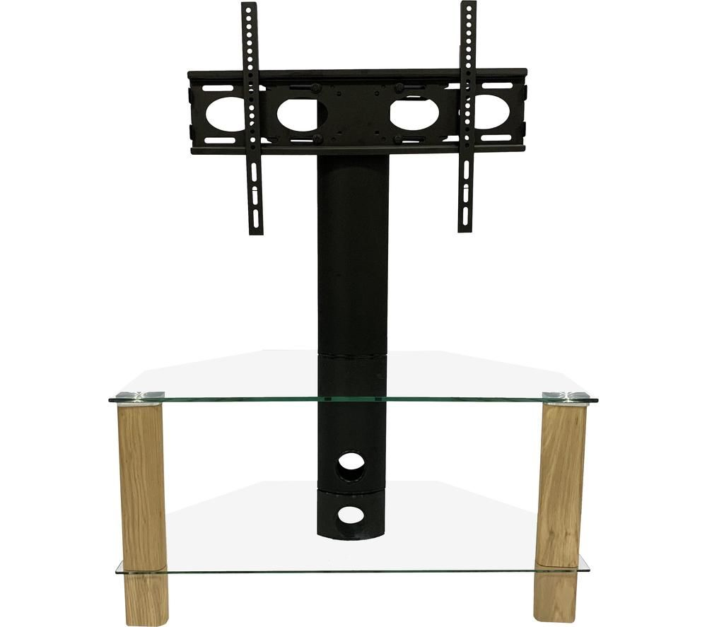 Image of ALPHASON Century 800 mm TV Stand with Bracket - Light Oak