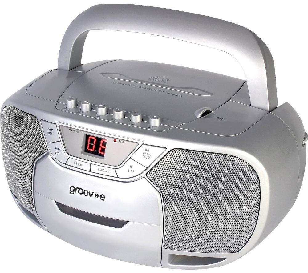 Image of GROOV-E Classic GV-PS823-SR Boombox - Silver, Silver