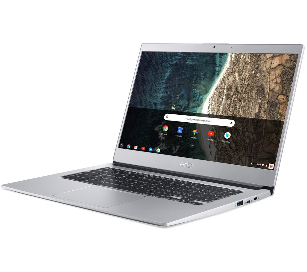 """Image of ACER 514 Touch 14"""" Chromebook - Intelu0026regPentium, 128 GB eMMC, Silver, Silver"""