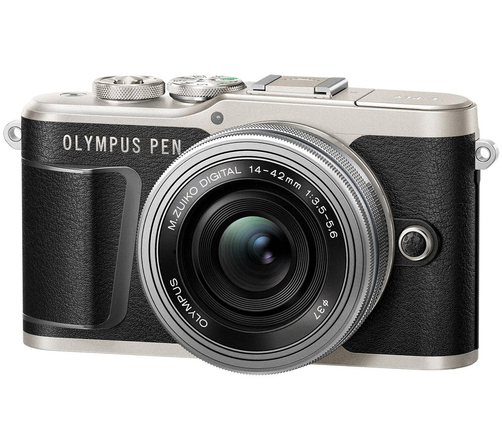 Image of OLYMPUS PEN E-PL9 Mirrorless Camera with M.ZUIKO DIGITAL ED 14-42 mm f/3.5-5.6 EZ Lens - Black, Black