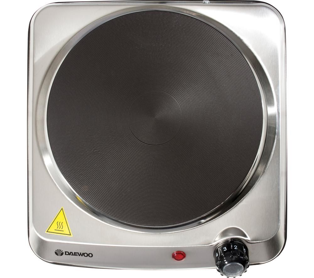 DAEWOO SDA1731 Single Electric Hot Plate - Silver