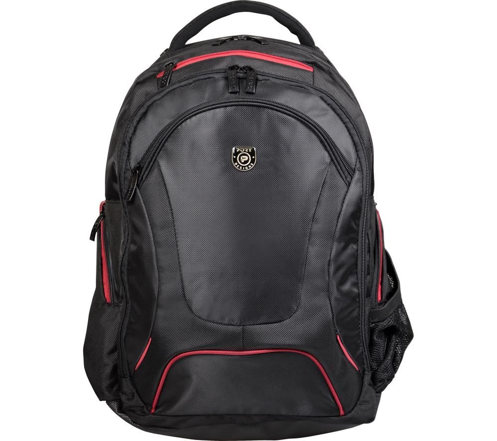 """PORT DESIGNS Courchevel 15.6"""" Laptop Backpack - Black & Red"""