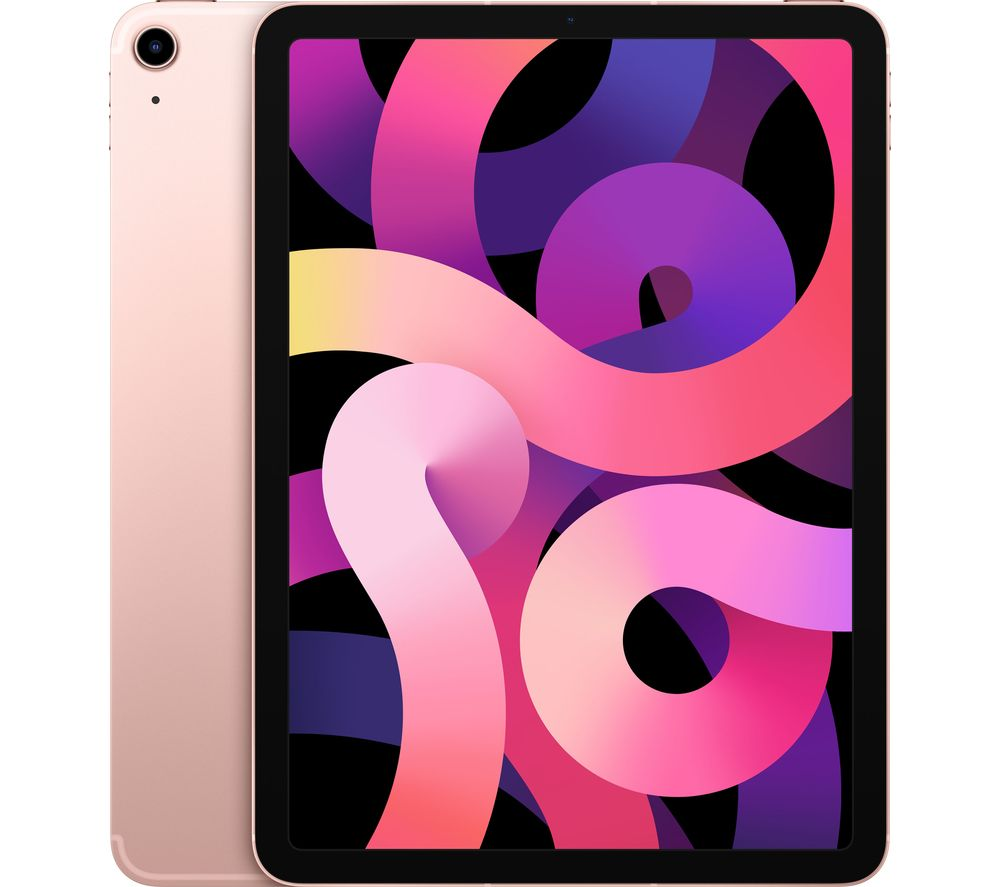 """Image of APPLE 10.9"""" iPad Air Cellular (2020) - 64 GB, Rose Gold, Gold"""