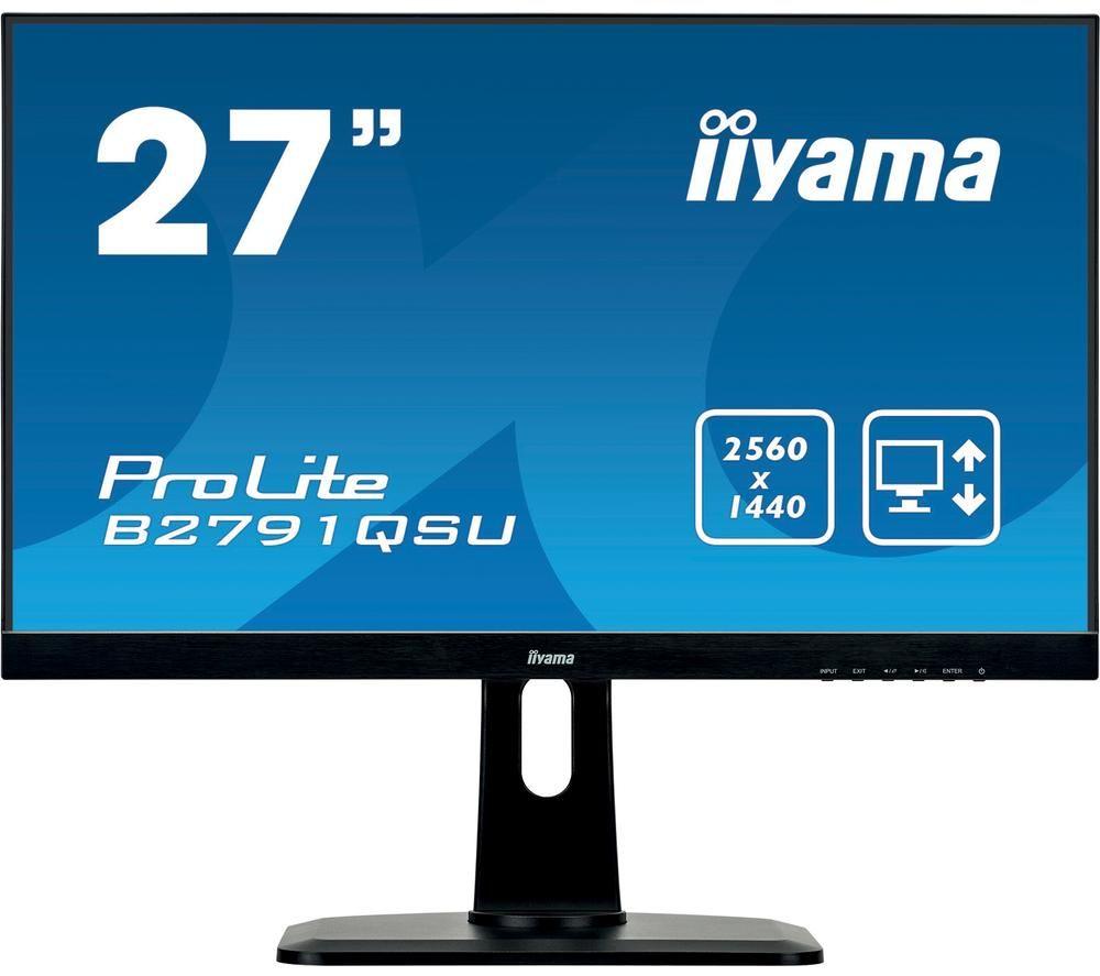 """IIYAMA ProLite B2791QSU-B1 Quad HD 27"""" LCD Monitor - Black"""