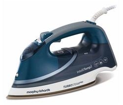 MORPHY RICHARDS Turbosteam Pro Intellitemp 303131 Steam Iron - Grey & Blue Best Price, Cheapest Prices