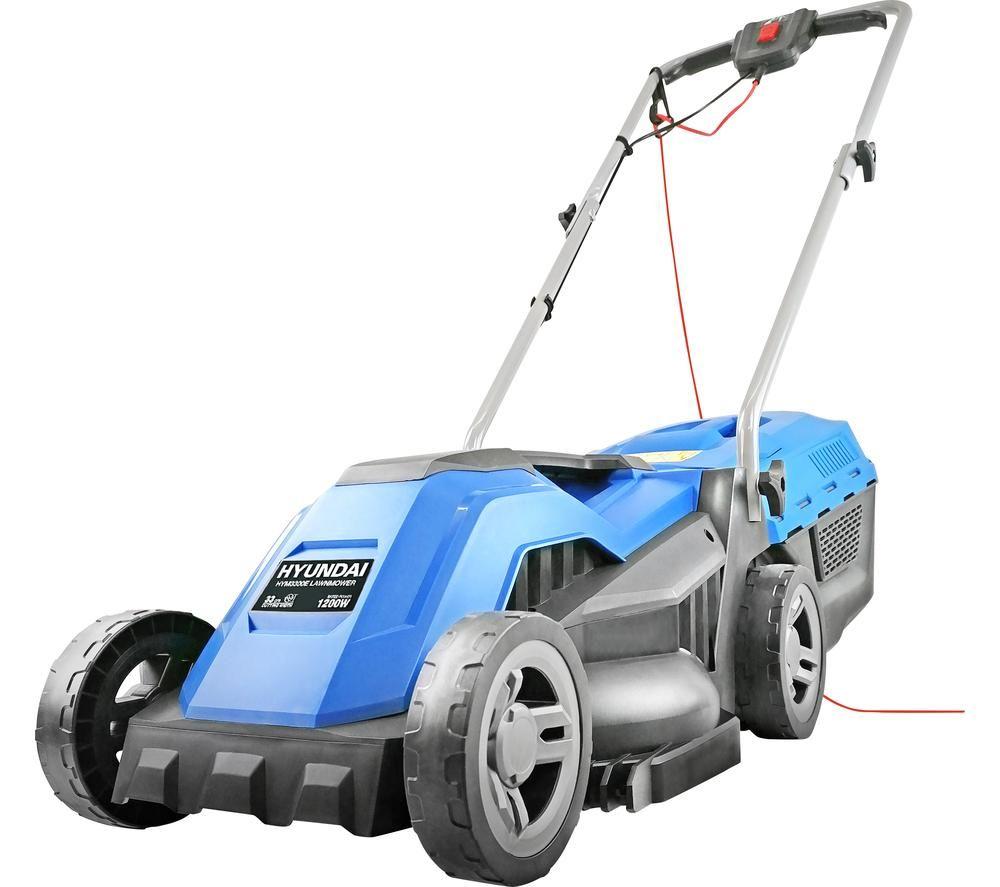 HYUNDAI HYM3300E Corded Rotary Lawn Mower - Blue