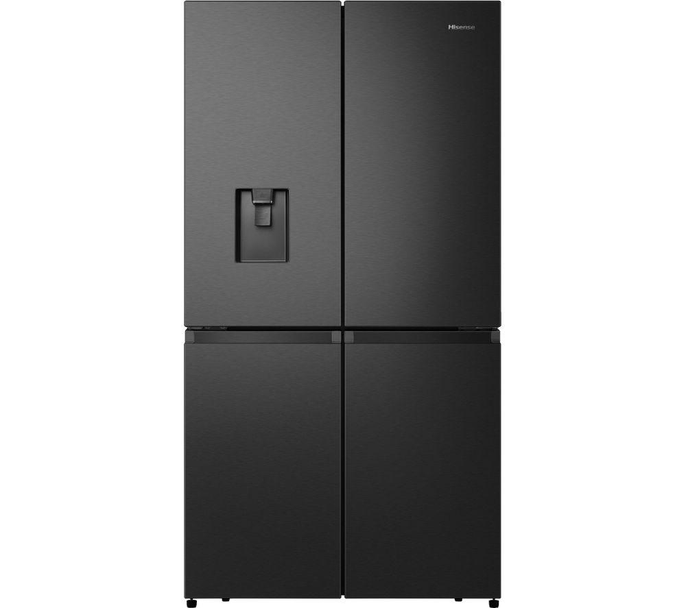 HISENSE PureFlat RQ758N4SWF1 Fridge Freezer - Black Stainless Steel
