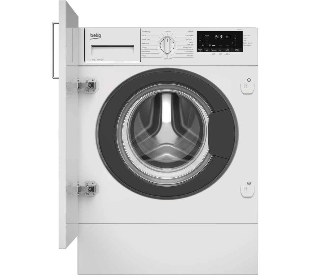 BEKO WTIK76121 Integrated 7 kg 1600 Spin Washing Machine