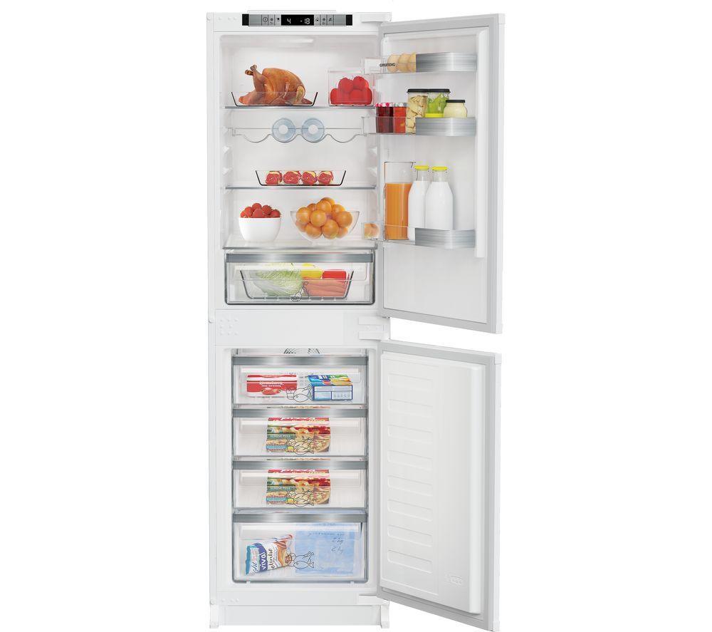 GRUNDIG GKFED455 Integrated 50/50 Fridge Freezer - White, Sliding Hinge, White