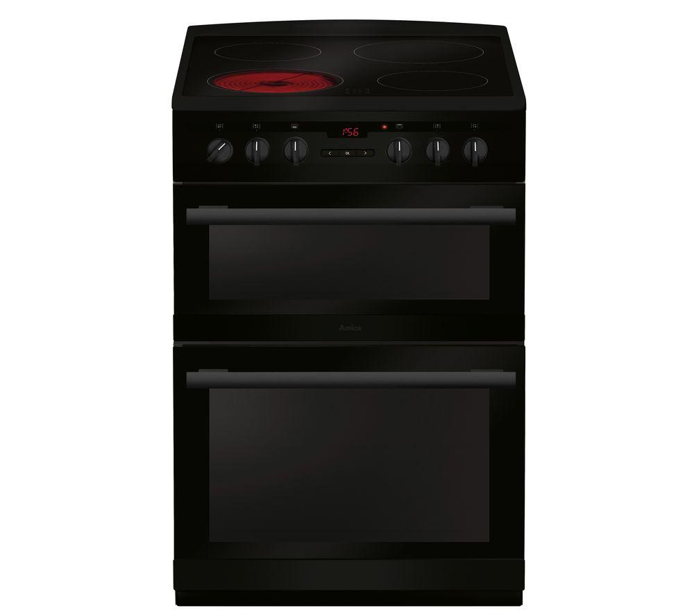 AMICA AFC6550BL 60 cm Electric Ceramic Cooker - Black