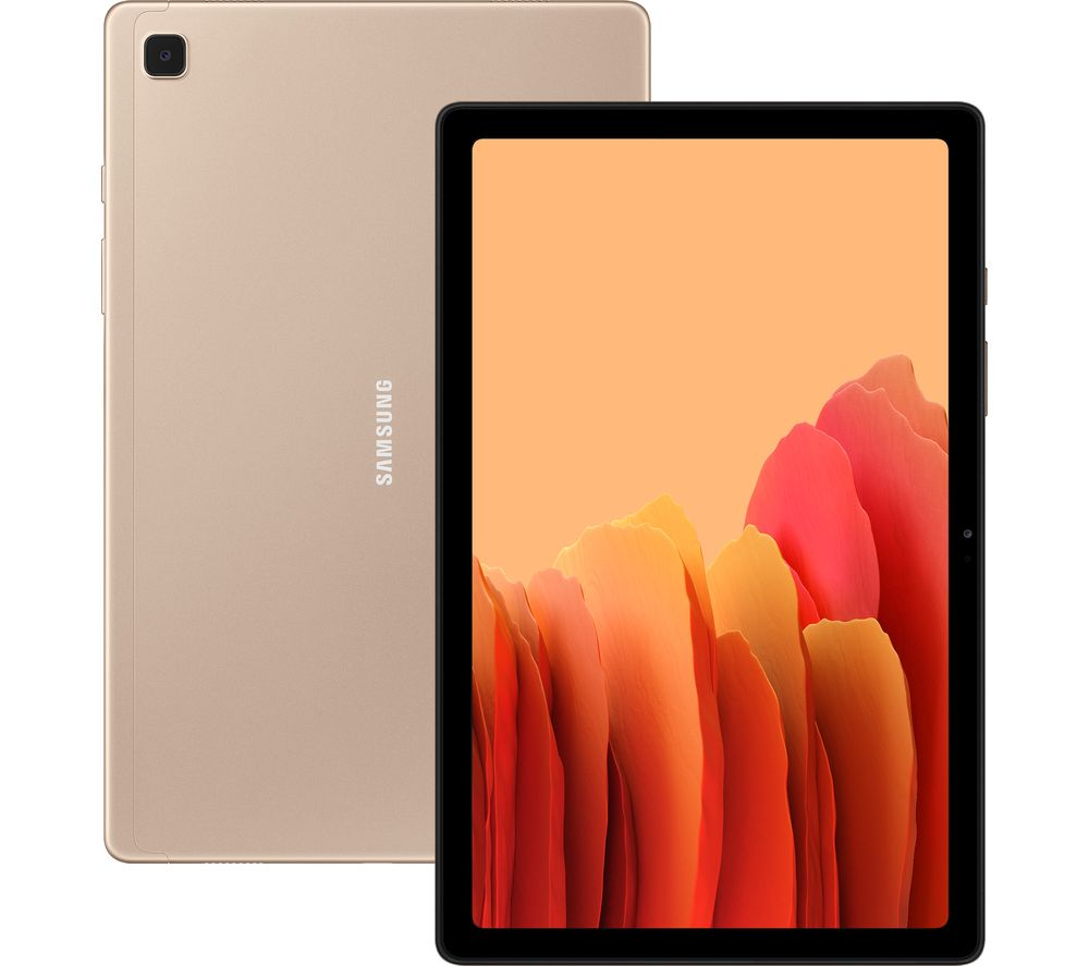"Image of SAMSUNG Galaxy Tab A7 10.4"" 4G Tablet - 32 GB, Gold, Gold"