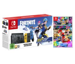Switch Fortnite Special Edition & Mario Kart 8 Deluxe Bundle