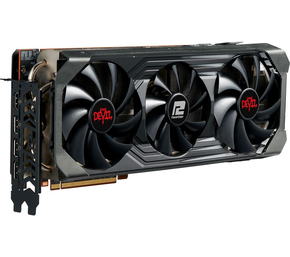 Image of POWERCOLOR Radeon RX 6900 XT 16 GB Red Devil Graphics Card, Red