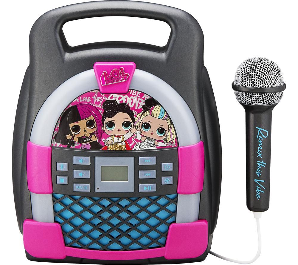 EKIDS LOL Surprise LL-553 Bluetooth Karaoke System - Pink & Grey, Pink