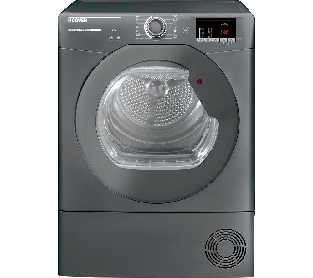 HOOVER H-Dry 300 HLE C9DRGR WiFi-enabled 9kg Condenser Tumble Dryer - Graphite, Graphite