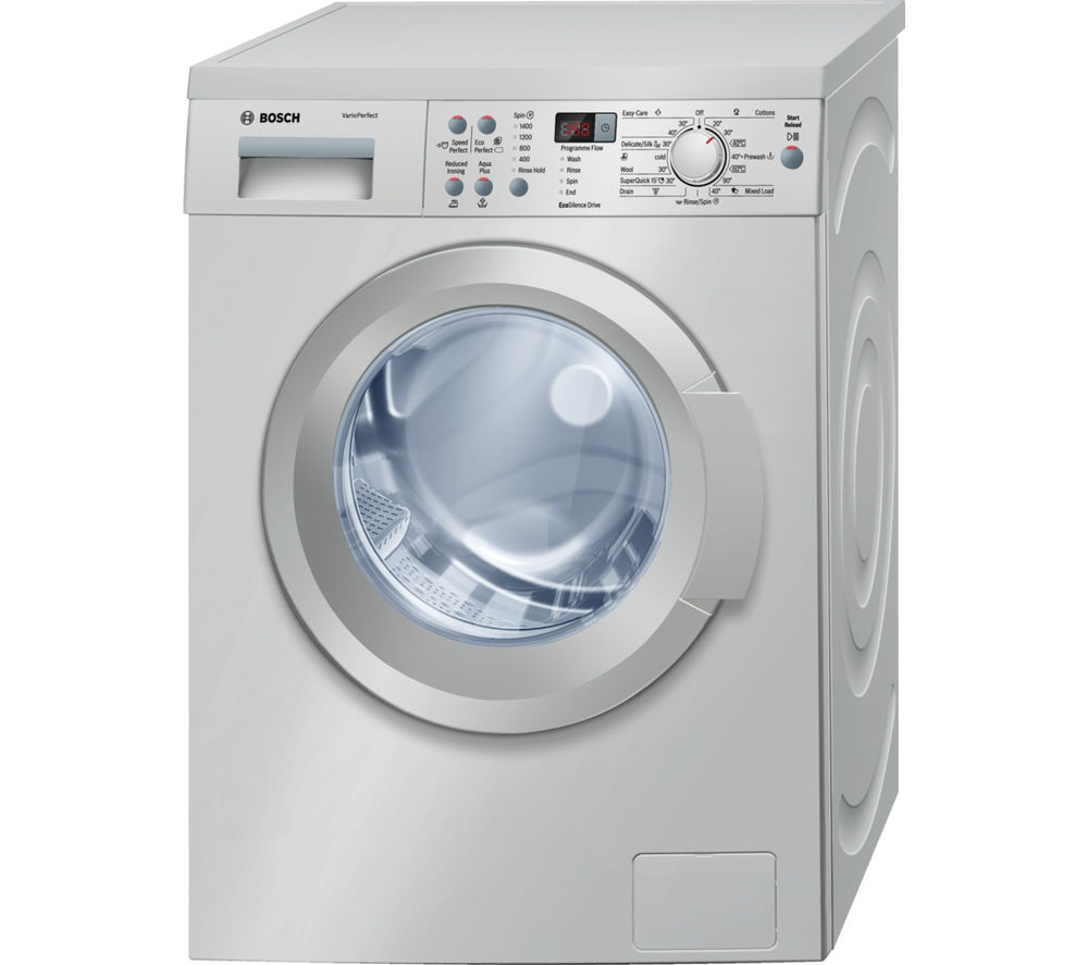 bosch waq2836sgb washing machine silver silver. Black Bedroom Furniture Sets. Home Design Ideas