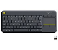 LOGITECH K400 Plus Wireless Keyboard - Dark Grey