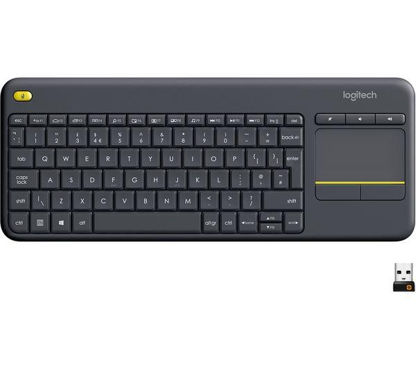 Image of LOGITECH K400 Plus Wireless Keyboard - Dark Grey