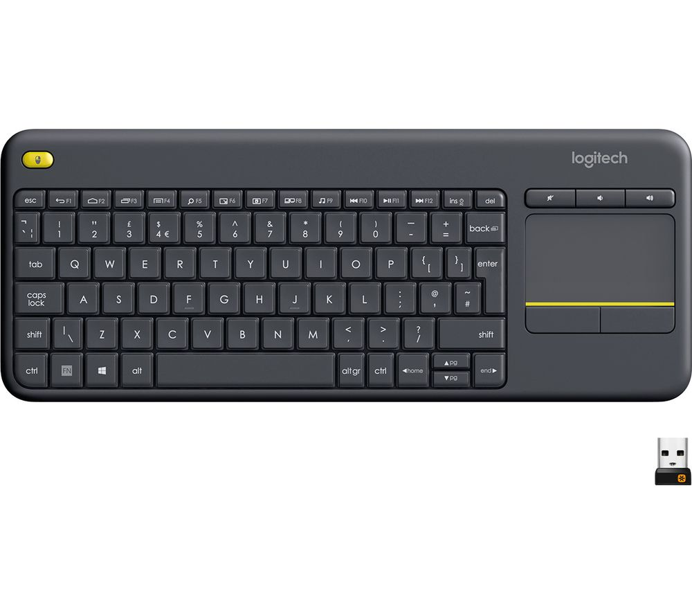 51cb3e41919 Buy LOGITECH K400 Plus Wireless Keyboard - Dark Grey | Free Delivery ...