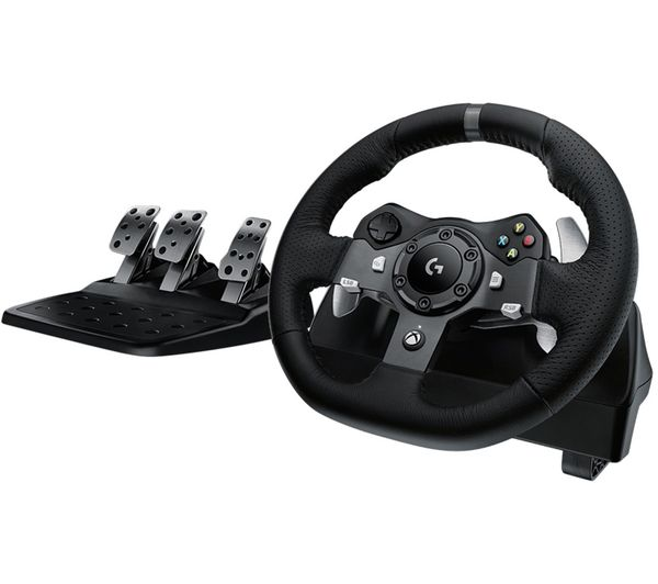 Image of LOGITECH Driving Force G920 Xbox One & PC Racing Wheel & Pedals - Black
