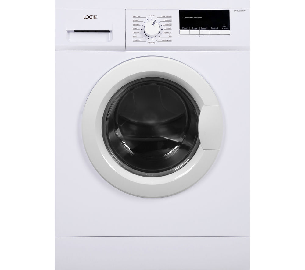buy logik l612wm16 washing machine white free delivery. Black Bedroom Furniture Sets. Home Design Ideas