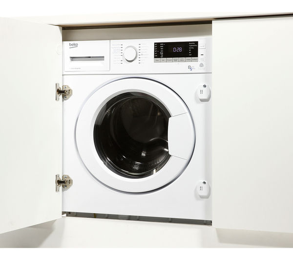 Nice Built In Washer Part - 5: BEKO WDIX8543100 Integrated Washer Dryer - White