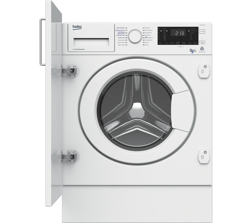 BEKO WDIX8543100 Integrated Washer Dryer - White