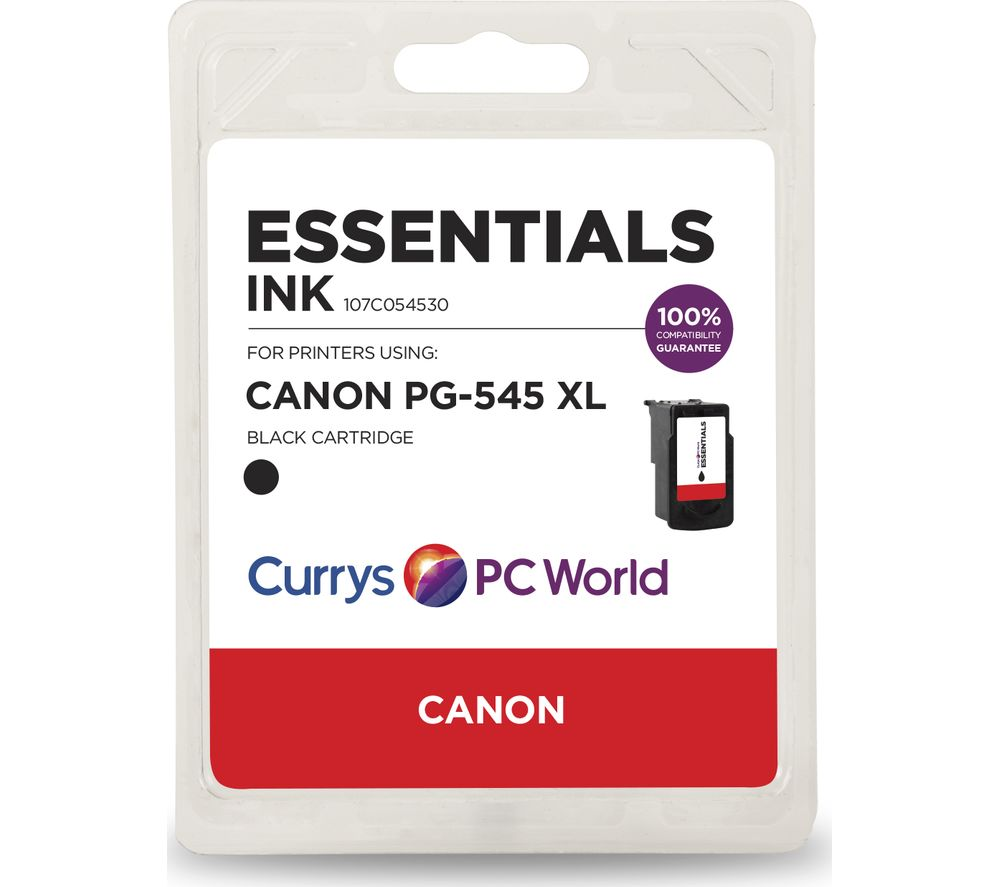 ESSENTIALS PG-545XL Black Canon Ink Cartridge