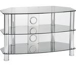 TTAP Vantage 1200 TV Stand - Chrome & Grey