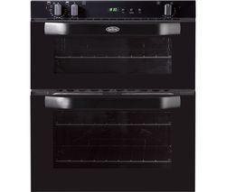 BELLING BI70FP Electric Built-under Double Oven - Black