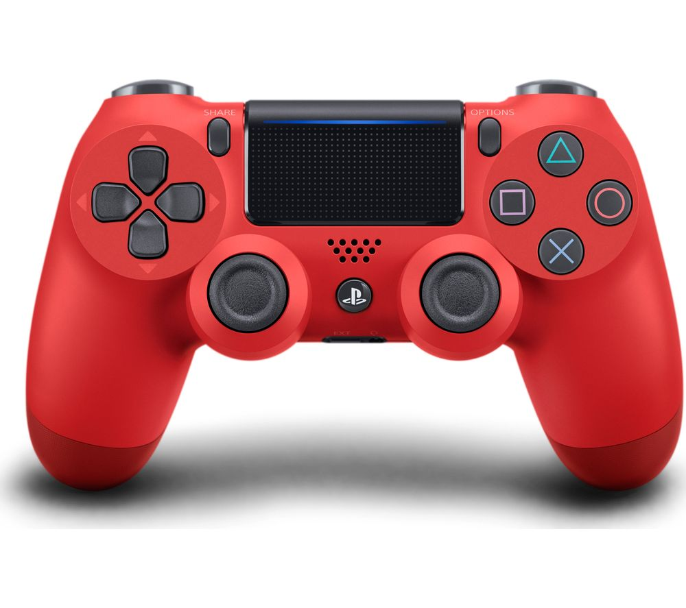 SONY DualShock 4 V2 Wireless Controller - Magma Red, Red