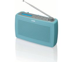 LOGIK LRDABB17 Portable DAB/FM Clock Radio - Duck Egg