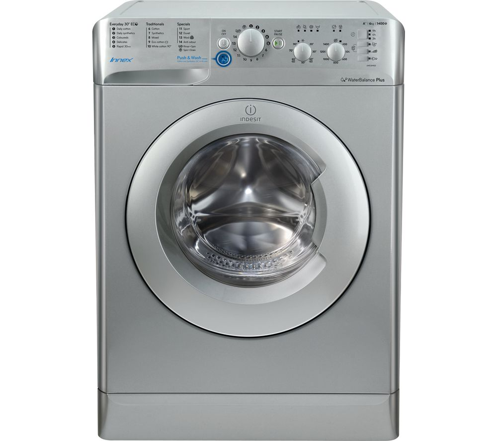 INDESIT BWC 61452 S 6 kg 1400 Spin Washing Machine - Silver