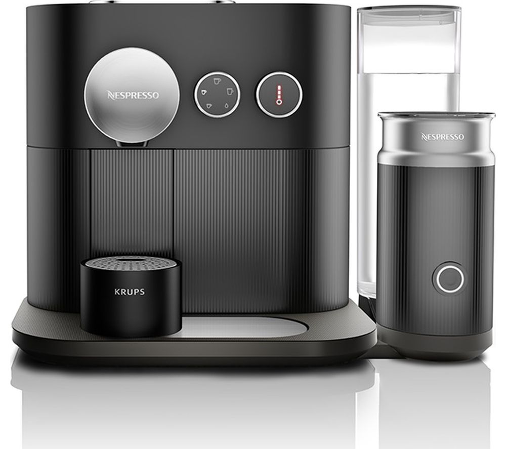 buy nespresso by krups expert milk xn601840 smart coffee machine black free delivery currys. Black Bedroom Furniture Sets. Home Design Ideas