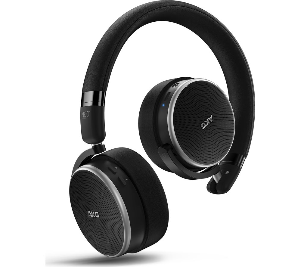 AKG N60NC Bluetooth Wireless Noise-Cancelling Headphones - Black