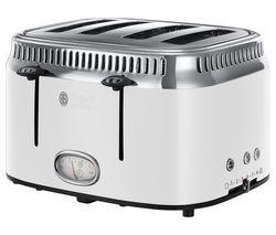 RUSSELL HOBBS Retro 21694 4-Slice Toaster - White
