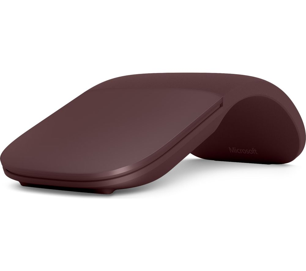 525fff14bca MICROSOFT Surface Arc BlueTrack Touch Mouse - Burgundy Deals | PC World