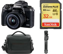 CANON EOS M5 Mirrorless Camera with EF-M 15-45 mm f/3.5-6.3 IS STM Lens & Smart Lens Adapter
