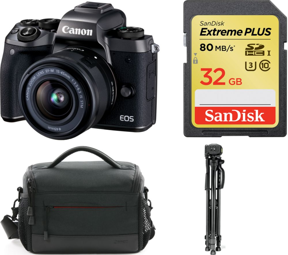Compare prices for Canon EOS M5 Mirrorless Camera and Accessories Bundle