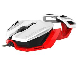 MAD CATZ RAT 1 Optical Gaming Mouse - White & Red