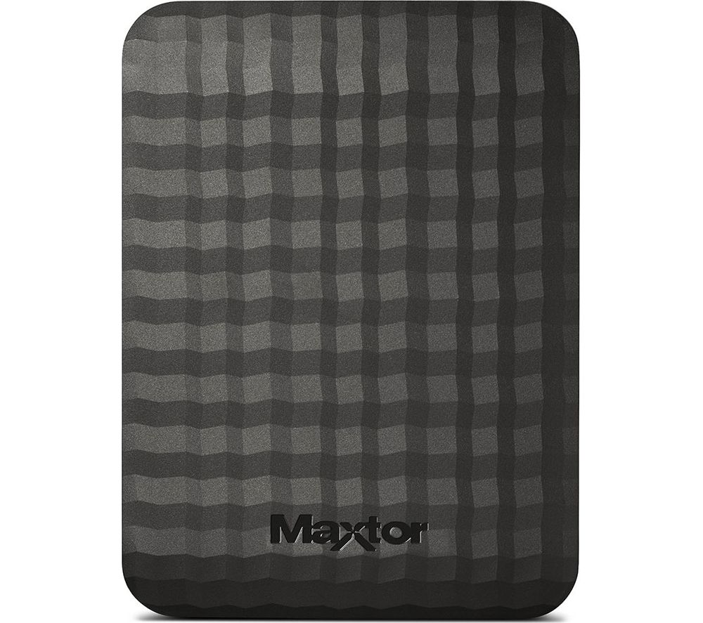 Image of MAXTOR M3 Portable Hard Drive - 500 GB, Black, Black