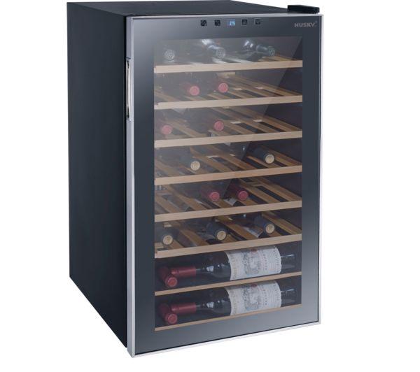 Image of HUSKY Reflections HUS-HN12 Wine Cooler - Black