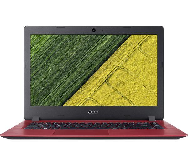 "Image of ACER Aspire 1 A114-31 14"" Intel® Celeron® Laptop - 64 GB eMMC, Red"