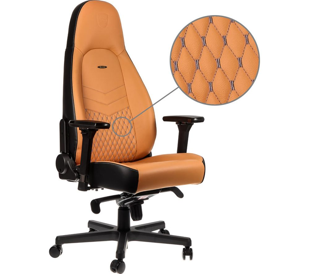 Image of NOBLECHAIRS ICON Leather Gaming Chair - Cognac, Cognac