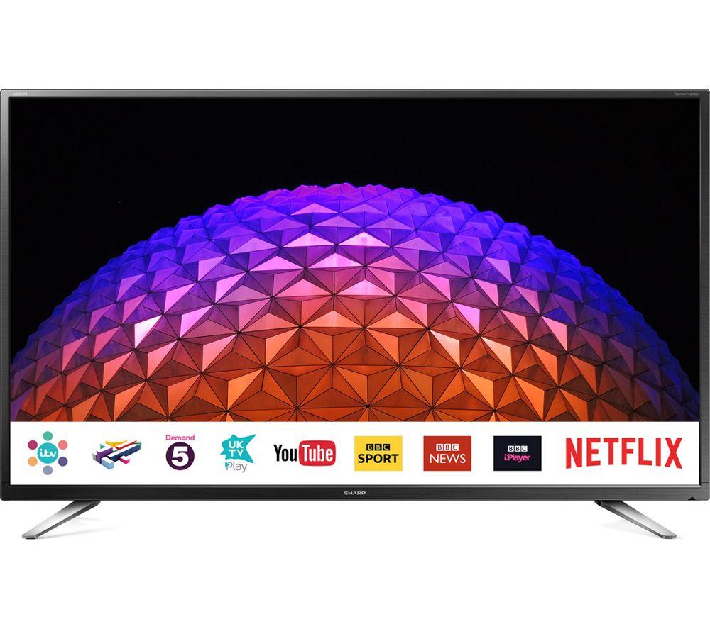 """32""""  SHARP LC-32CHG6021KF Smart LED TV, Gold"""