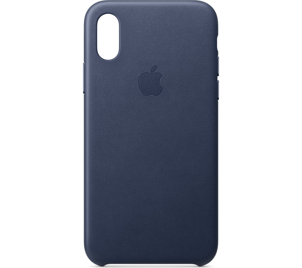 APPLE iPhone Xs Leather Case - Midnight Blue, Blue cheapest retail price