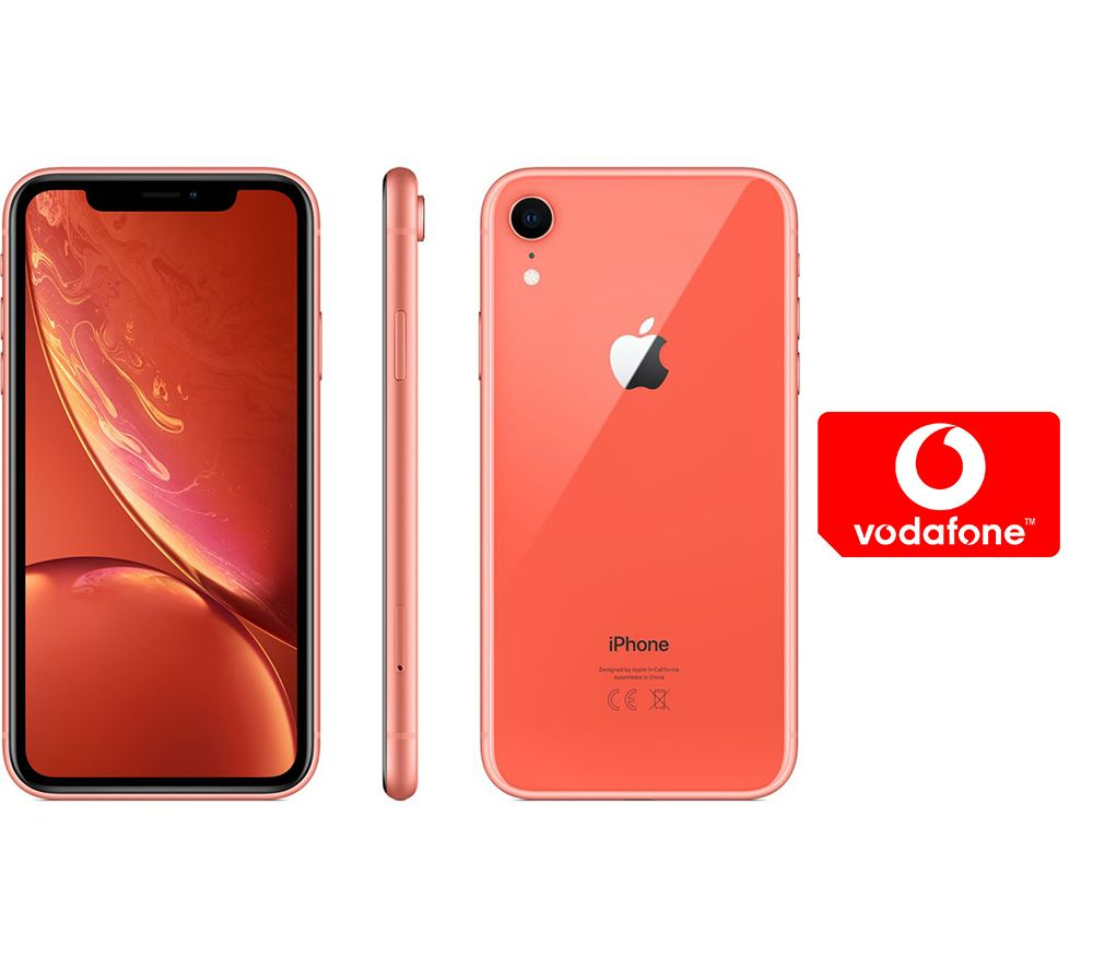APPLE iPhone XR & Pay As You Go Micro SIM Card Bundle - 64 GB, Coral, Coral cheapest retail price