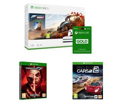 MICROSOFT Xbox One S, Forza Horizon 4, Tekken 7, Project Cars 2 & Xbox LIVE Gold Bundle - 1 TB