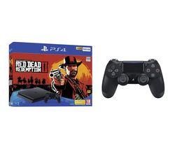 SONY PlayStation 4, Red Dead Redemption 2 & DualShock 4 V2 Wireless Controller Bundle - 500 GB