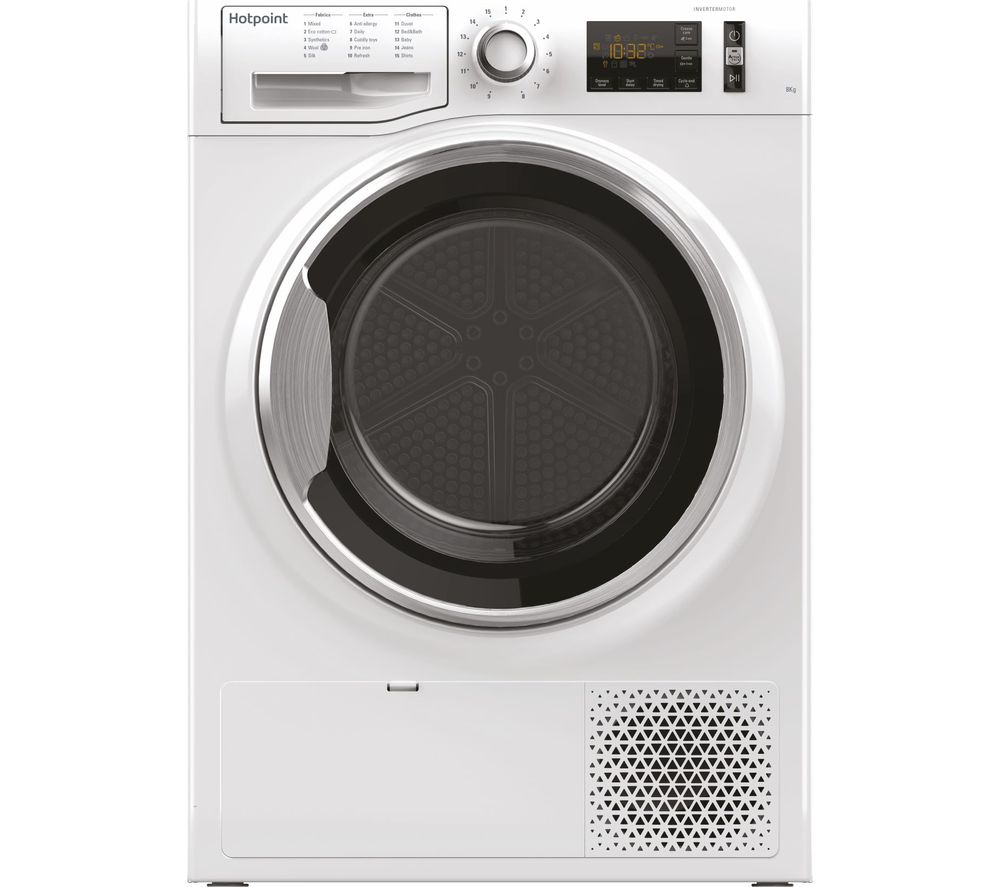 HOTPOINT ActiveCare NT M11 82XB UK 8 kg Heat Pump Tumble Dryer - White, White